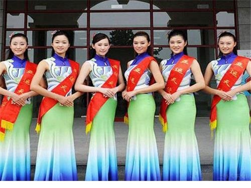 Hostesses on exhibition spot